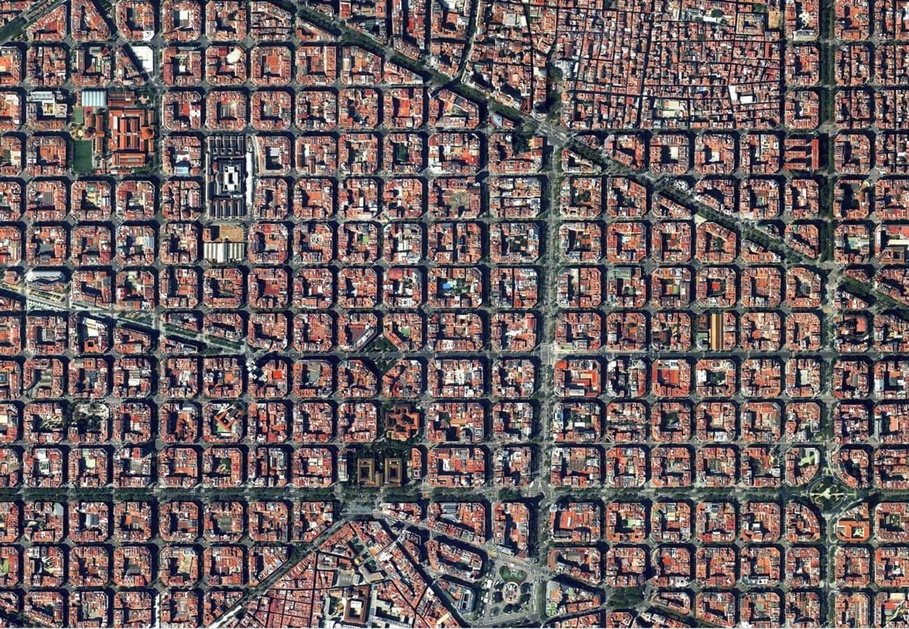 Vista aerea Barcelona eixample